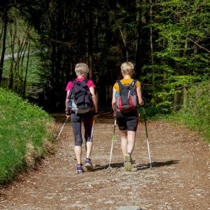 sport, nordic walking, woman